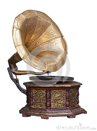 Free Old Retro Gramophone. Royalty Free Stock Image - 51888236