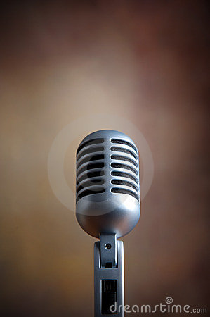Old retro microphone