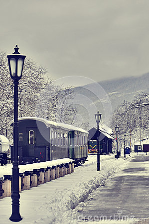 Free Old Retro Steam Train And Vagons Royalty Free Stock Photography - 49796537