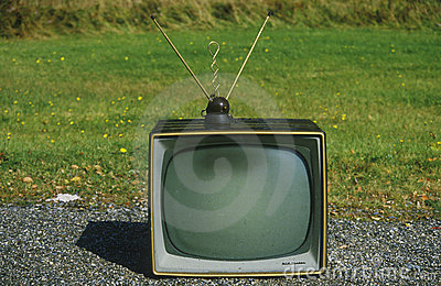 Old retro television Editorial Image