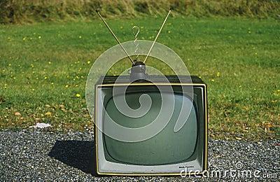 Old retro television Editorial Image