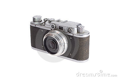 Old retro vintage rangefinder camera