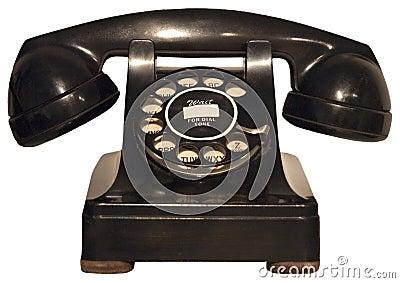 Old Retro Vintage Rotary Phone, Telephone Isolated