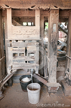 Old rice mill in Cambodia