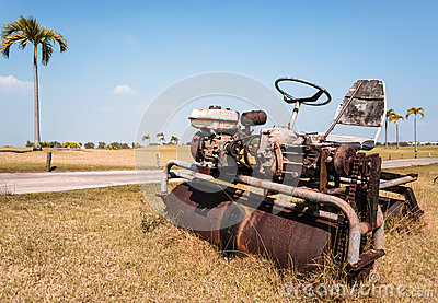 Old Ride-on Lawn Roller
