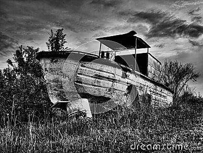 Old river boat