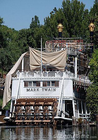 Old riverboat mark twain in disneyand Editorial Image