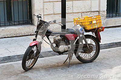 Old roadworthy motorcycle