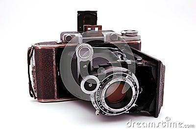 Old roll-film camera