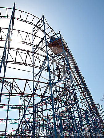 Old Roller Coaster Stock Photos - Image: 24315813