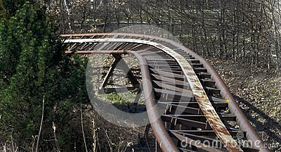 Old roller coaster rails