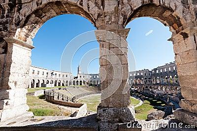 Old Roman coliseum