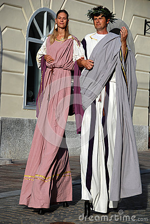 Old Roman dress Editorial Stock Photo
