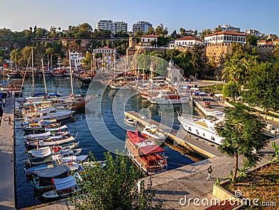 Old Roman Harbor, Antalya, Turkey Editorial Stock Photo ...