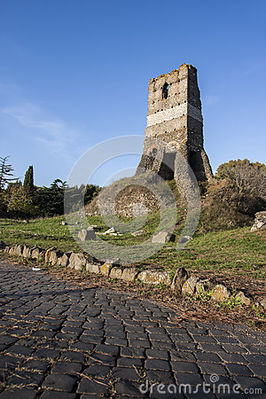 Free Old Roman Ruin In Via Appia Antica (Rome, Italy) Royalty Free Stock Photo - 46561495