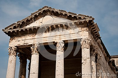 Old roman temple in Croatia