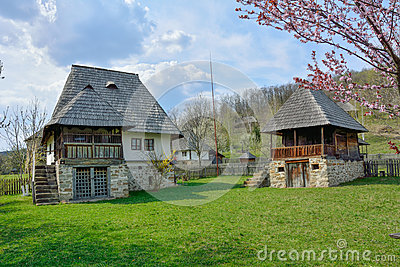 Old romanian peasant houses in village museum valcea romania stock photo image 57316013 - Romanian peasant houses ...