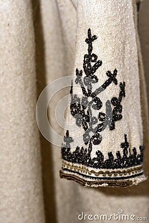 Old romanian peasant overcoat sleeve detail