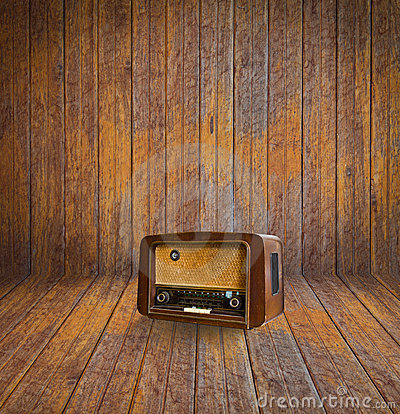 Old room and vintage radio
