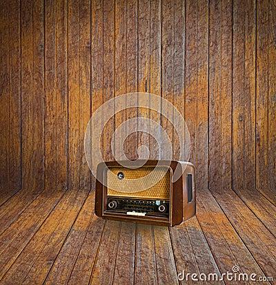 Old room and vintage radio