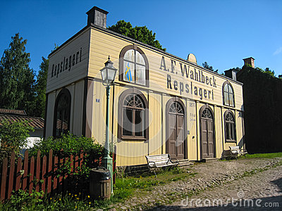 An old Ropemaking shop. Linkoping. Sweden Editorial Stock Image