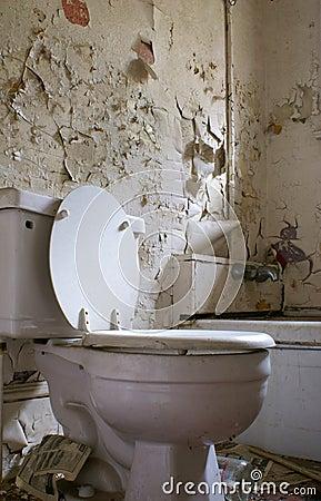 Old, rotten bathroom