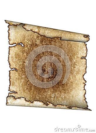 Old rough antique parchment paper scroll, texture