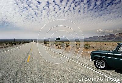 Old Route 66 desert horizon