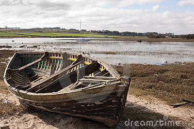 Old Rowing Boat on The Estuary