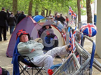 Old Royal Wedding fan Editorial Photo