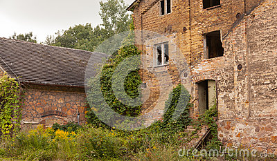 An old ruined factory building