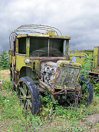 Old Ruined Russian Military Truck From WWII