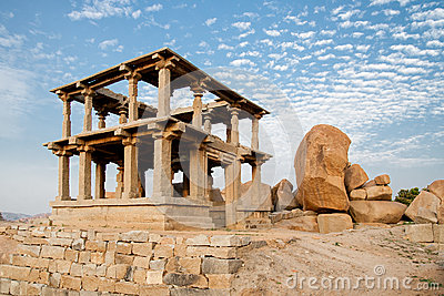 Old ruins of hampi in india