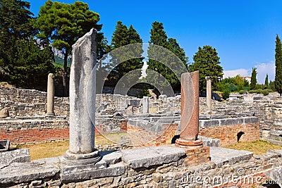 Old ruins in Salona, Croatia