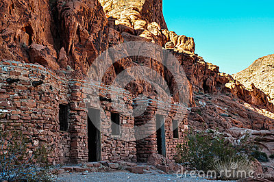 Old ruins in Valley of Fire Provincial Park, Nevada, USA
