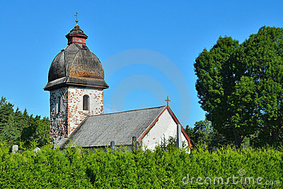 Old rural church in Scandinavia