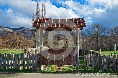 Old rural gate