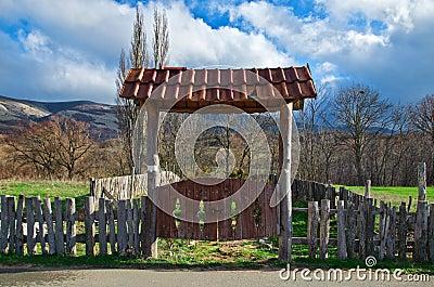 Old rural gate