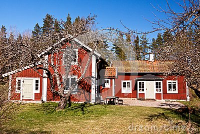 Old rural house in sweden.