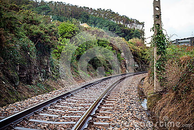 Old Rural Railroad at Northern Spain