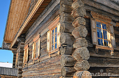Old rural wooden house