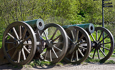 Old Russian Guns Stock Photography - Image: 5187002