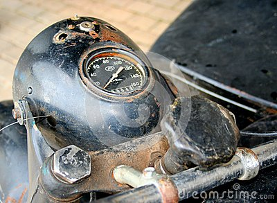 Old russian motorcycle speedometer