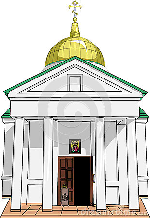 Free Old Russian Orthodox Temple. Vector. Stock Photography - 38933952