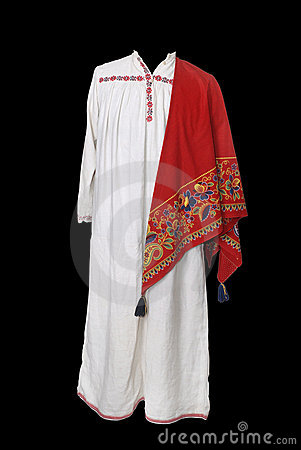 Old Russian peasant costume