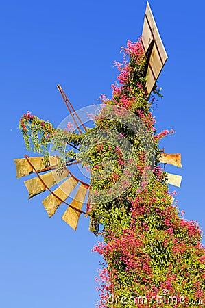 Old Rusted Broken Windmill