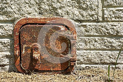 Old rusted metal door