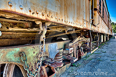 Old rusted train