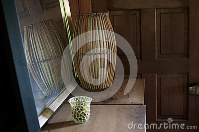Old rustic room with mirror