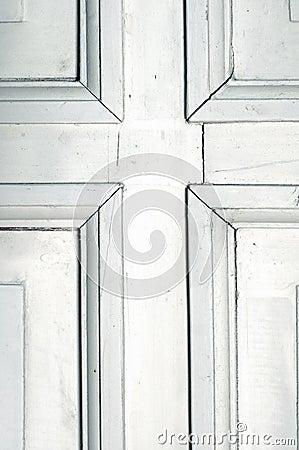Old rustic white door detail